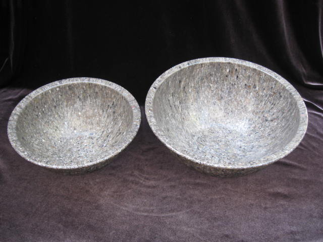 Set of 2 Gray Brookpark   Melmac Confetti Spatter Garbage Bowls