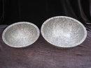 Set of 2 Gray Brookpark   Melmac Confetti Spatter Garbage Bowls