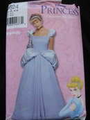 New Simplicity 0624 Disney Misses Cinderella Halloween Costume Sewing Pattern Size 8 - 18