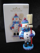 Hallmark 2009 Jolly Snowman 2nd In Noel Nutcrackers Series Christmas Tree Ornament
