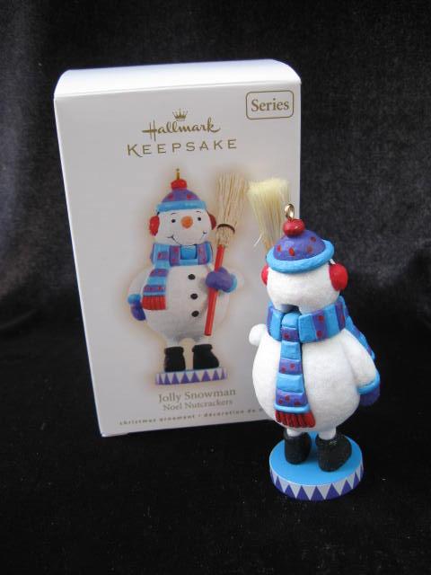 Hallmark 2009 Jolly Snowman 2nd In Noel Nutcrackers Series Christmas Tree Ornament