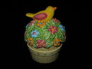 Cooks Club Bird On Flower Pot Salt & Pepper Stacking Shakers