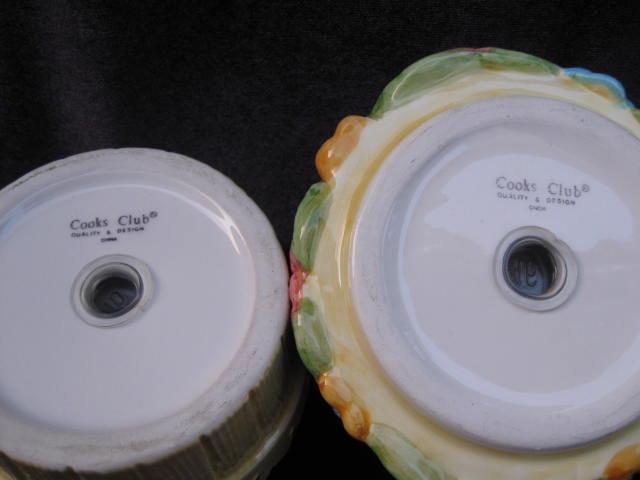 Cooks Club Bird On Flower Pot Salt & Pepper Stacking Shakers