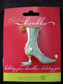 Department 56 Krinkles Christmas Brooch Holiday Pin