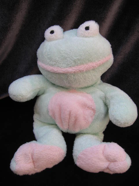 Ty Grins The Frog Retired  Pluffie Pluffies