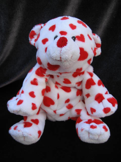 Ty Dreamsy The Bear Cub With Hearts  Retired  Pluffie Pluffies