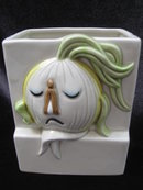 Vintage Fitz & Floyd   Anthropomorphic  3D    3 D Dimensional Stinky Onion Planter