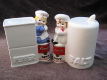 Campbell's Soup Salt & Pepper Shakers 1996 Campbells Soup Shakers