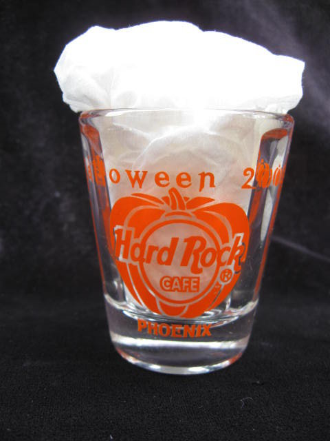 Hard Rock Cafe Halloween 2002 Scareway 2 Heaven   Shot Glass