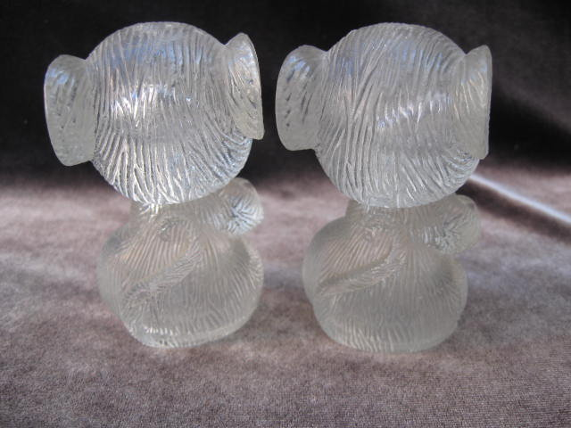 Clear Mice  Salt & Pepper Shakers