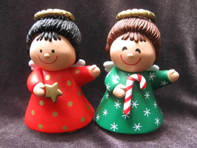 Vintage Hallmark  Season Greetings  Barefoot Christmas Angels Salt & Pepper Shakers