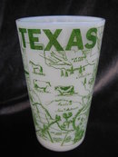 Vintage Texas Tumbler & 2 Pedestal Mugs Lot of 3
