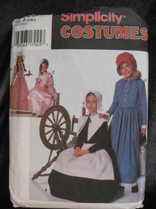 Simplicity 9708 Girl's Puritan, Centennial Frontier  18th & 19th Century Halloween Costume Sewing Pattern
