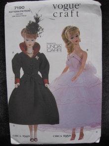 New Vogue Craft 7190 Circa 1940  & 1950 11 1/2