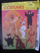 New Simplicity  Adults'  Animal Bunny Bear Cat Lion Kangaroo  Halloween Costume Sewing Pattern