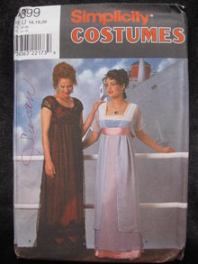 New  Simplicity  8399  Misses' The  Titanic  Rose  Halloween Costume Sewing Pattern  OOP