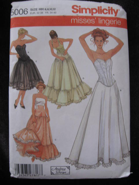 New   Simplicity 5006  Misses' Lingerie Corset Petticoat Sewing Pattern