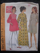 New Vintage McCall's Misses'  Hippie Flow Child Full Length or Mini Dress Sewing Pattern 1960's