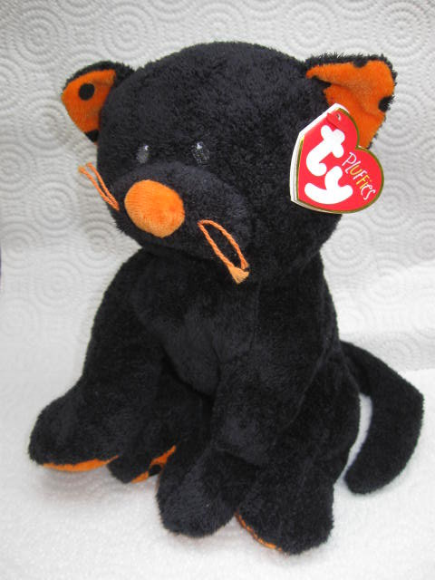 Ty Pluffies Pluffie Trickery The Halloween Black Cat   Retired