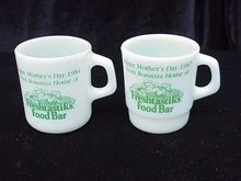 2 Bonanza Mother's Day Mugs - Advertising Restaurant Mug