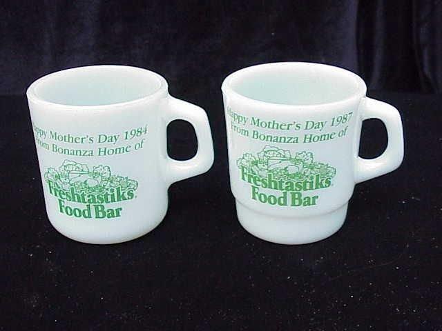2 Bonanza Mother's Day Mugs - Advertising Restaurant Mug