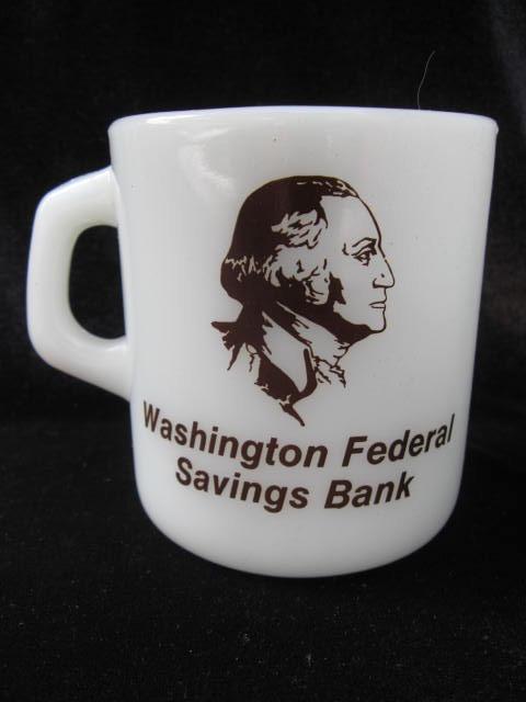 Vintage President George Washington Bank Mug - Galaxy - Both Sides