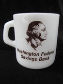 Vintage President George Washington Bank Mug - Galaxy - Both Sides