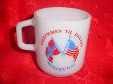 Vintage Galaxy Norway and USA Flag Mug - Both Sides