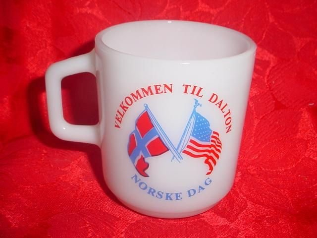 Vintage Galaxy Norway and USA Flag Mug - Both Sides