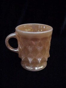 Vintage Fire King Kimberly Peach Luster Mug