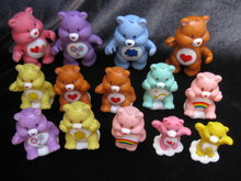 Lot of 14 PVC Care Bears -  4 Are Poseable Posable