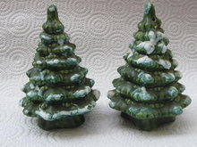 Vintage Evergreen Trees Christmas Salt & Pepper Shakers