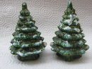 Vintage Evergreen Trees Christmas Salt & Pepper Shakers