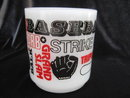 Vintage Baseball Mug Milk Glass With Slogans