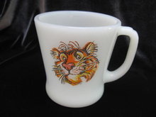 Vintage Fire King Esso Oil Tiger Mug