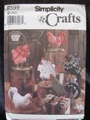 Simplicity Crafts 8399 Rooster & Hen Sewing Pattern