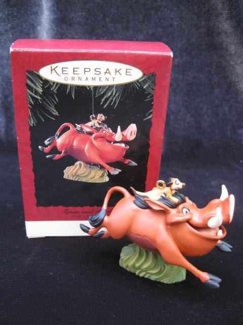 Hallmark  1994 Timon and Pumbaa  The Lion King Christmas Tree Ornament