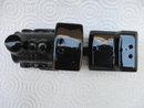 Vintage Set  Souvenir Locomotive and Coal Car Train Salt & Pepper Shakers