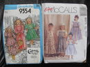 Lot of 2 New Vintage Simplicity 9354 & McCall's 8191 Girls Jumper Sundress Blouse Patterns 1970's & 90's