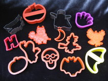 Lot Of 14 Halloween Fall Thanksgiving Cookie Cutters