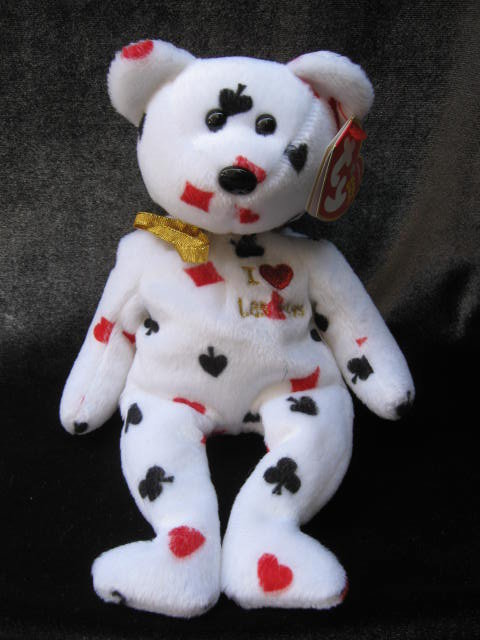 Ty Las Vegas The Bear  Retired Beanie Baby