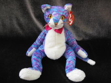 Ty Kooky The Blue Stripped Cat Retired Beanie Baby