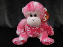Ty Sunset The Pink Monkey  Retired Beanie Baby