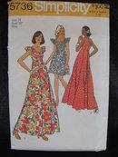 New Vintage Simplicity 5736 Muu Muu Muumuu Sewing Pattern    1970's