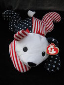 Ty Sparkler The Patriotic Bear Retired Pillow Pal