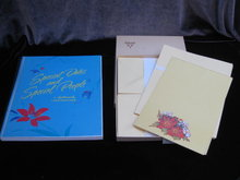 Vintage  1987 Hallmark Address & Card Holder  & Ambassador Stationery