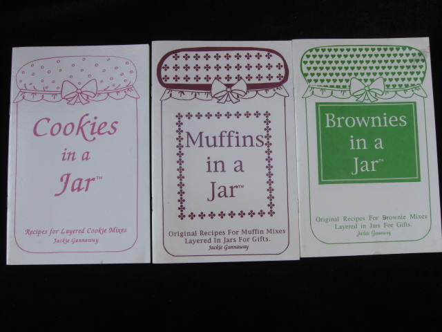 Lot Of 3 Cookbooks   Muffins Cookies Brownies In A Jar  Christmas Gifts