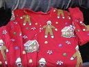 Sock Monkey & Gingerbread House Nick & Nora Nightshirt  Size XL