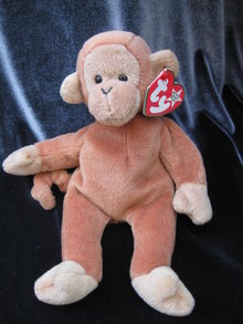 Ty  Bongo The Monkey With The Dark Tail    Retired Beanie Baby