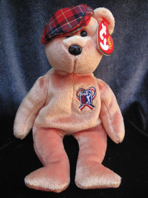 Ty ChariTee The PGA Charity Beanie Baby Golf Golfer Retired  Bear